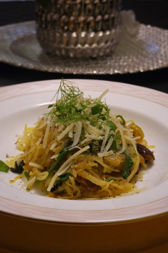 Fennel, Fig, and Goat Cheese Spaghetti Squash